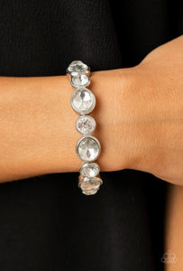 Still GLOWING Strong - white - Paparazzi bracelet