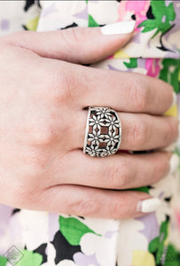 crazy about daises silver ring