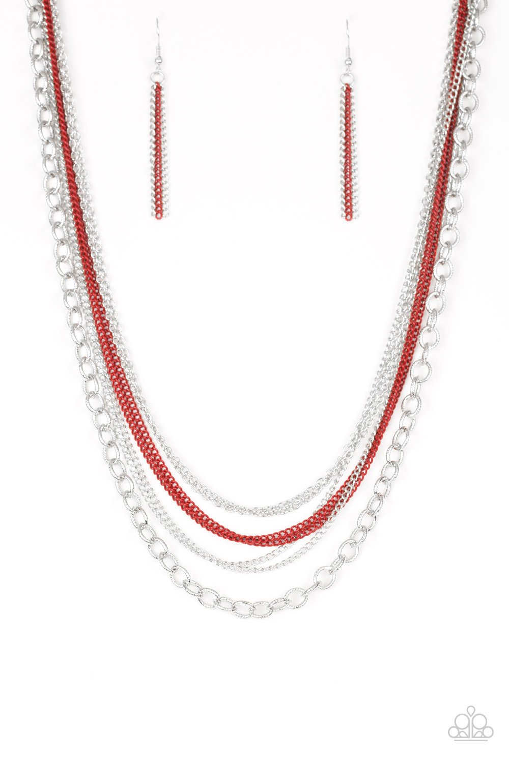 Intensely Industrial - red - Paparazzi necklace