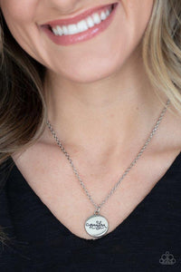 Paparazzi Necklace ~ Worlds Best Grandma - Silver