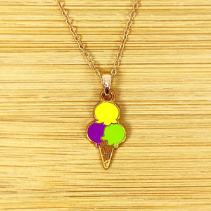 Ice Cream Trio - Necklace