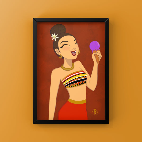 "Ube Girl 5x7"" Art Print"