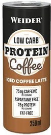 Joe Weider Low Carb Protein Coffee, 24 x 250 ml can, Iced Coffee Latte