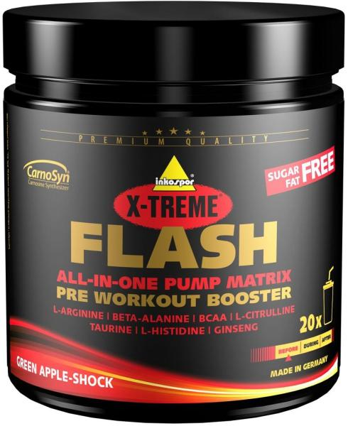 inkospor X-Treme Flash Booster, 300 g can, Green Apple Shock