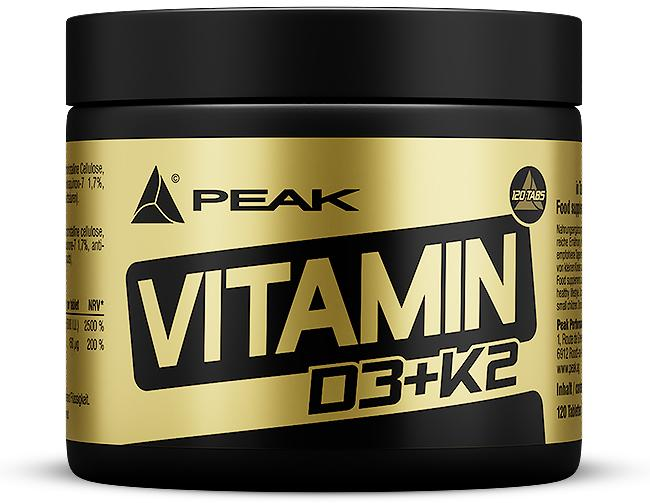 Peak Performance Vitamin D3 + K2, 120 tablets