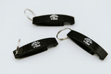 Black Bottle Opener Keyring
