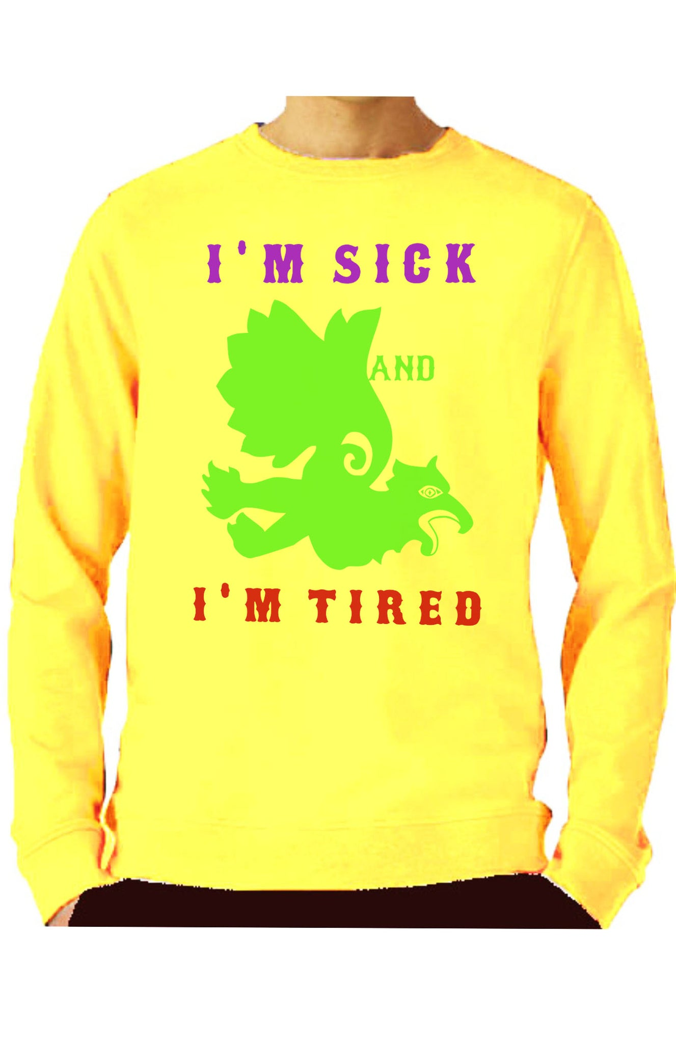Sudadera SICK AND TIRED unisex BOOMLAPOP