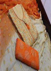 Orange Cotton Churidar Material