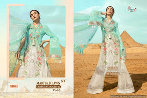 Sky Blue Cotton Pakistani Embroidery Patch Work Dress Material