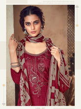 Load image into Gallery viewer, Magenta Printed Cotton Patiala Suit