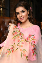 Load image into Gallery viewer, Pink Digital Printed Women Silk Saree