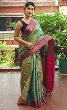 Load image into Gallery viewer, Green Color Silk Saree for Women