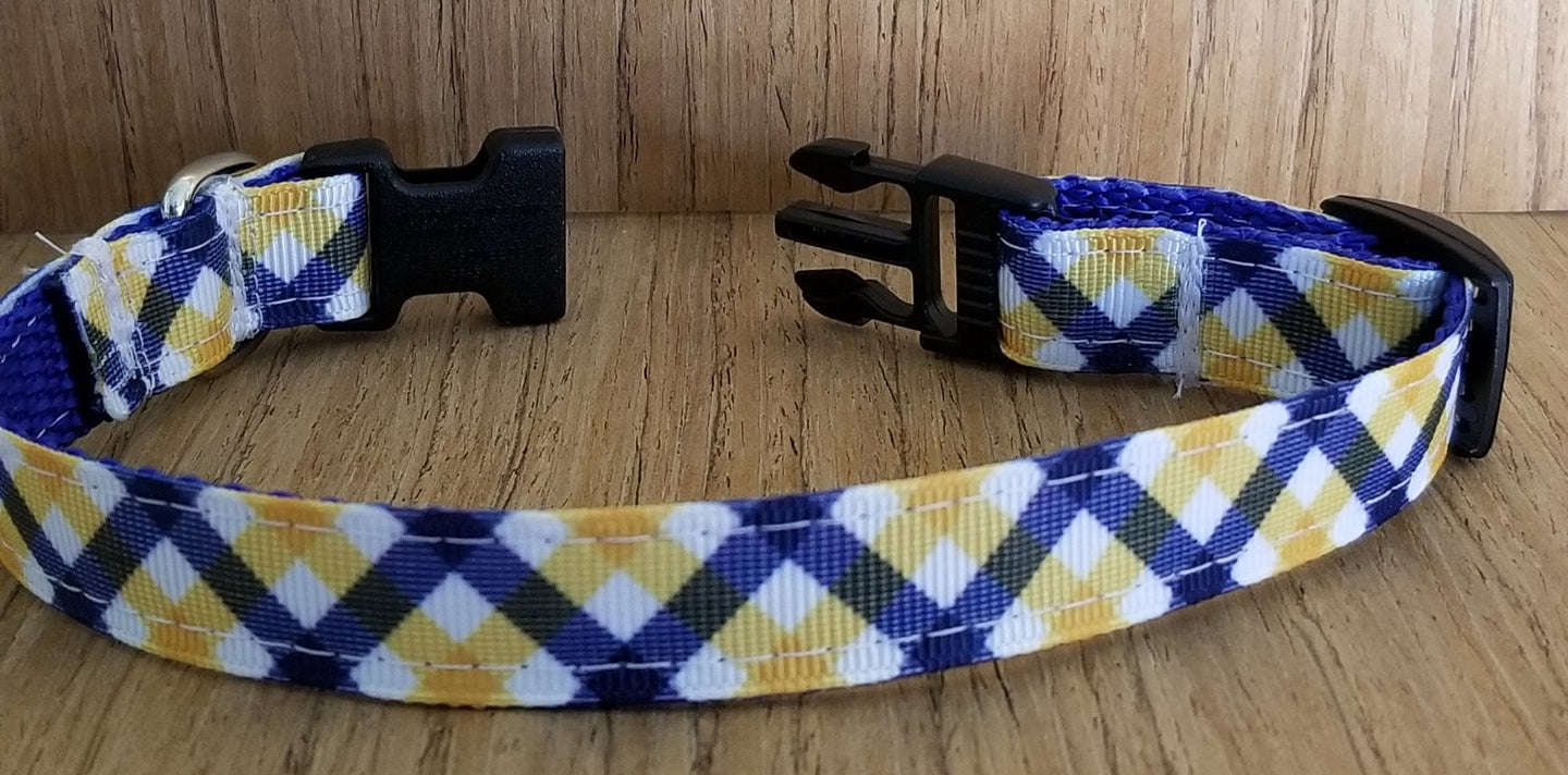 Collar/ Small/ Yellow & Blue Plaid