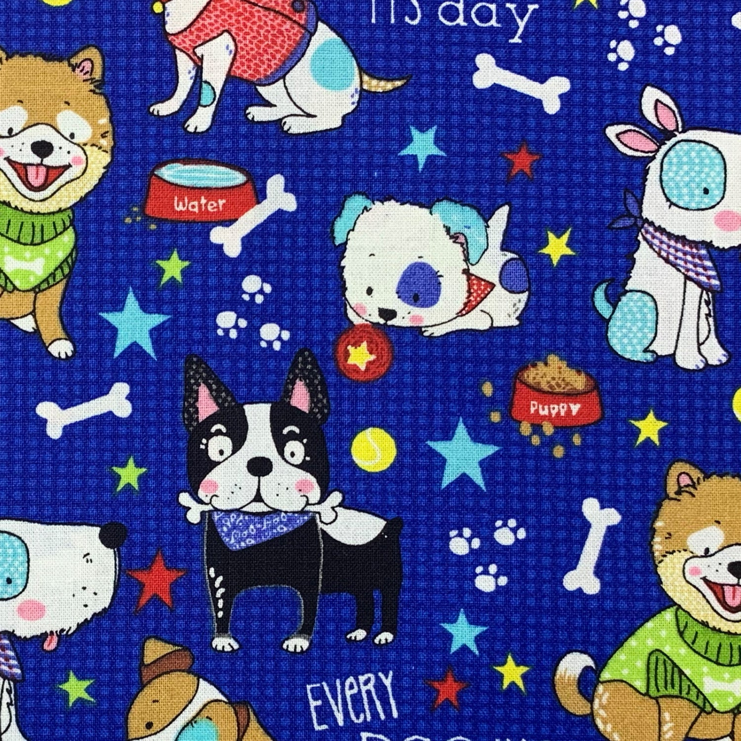 """Dog Days"" Print Triple-layer Washable Kids Face Mask"