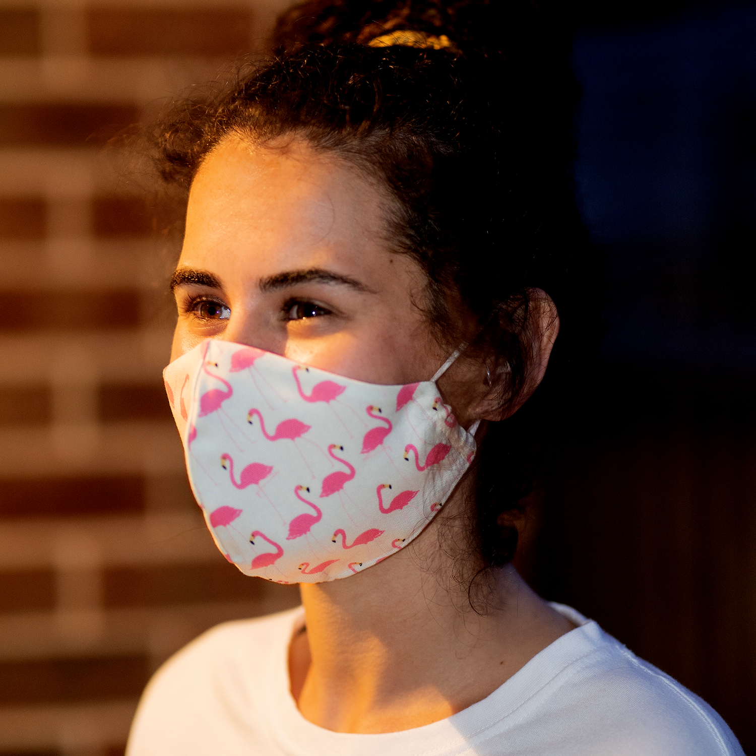 """Don't FlaminGo Out"" Print Triple-layer Washable Face Mask"
