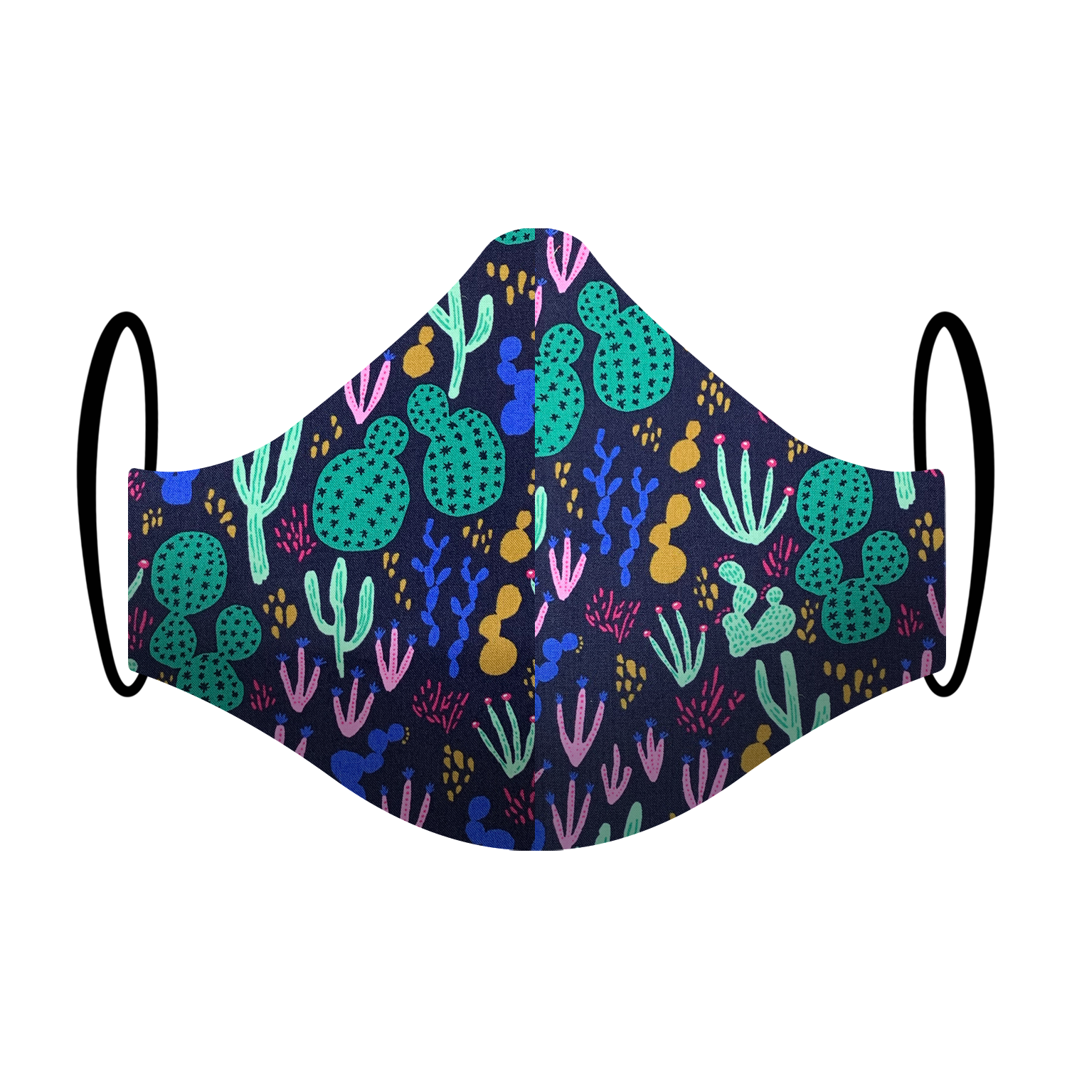 """Cactus Curfew"" Fun Printed Triple-layer Washable Face Mask"