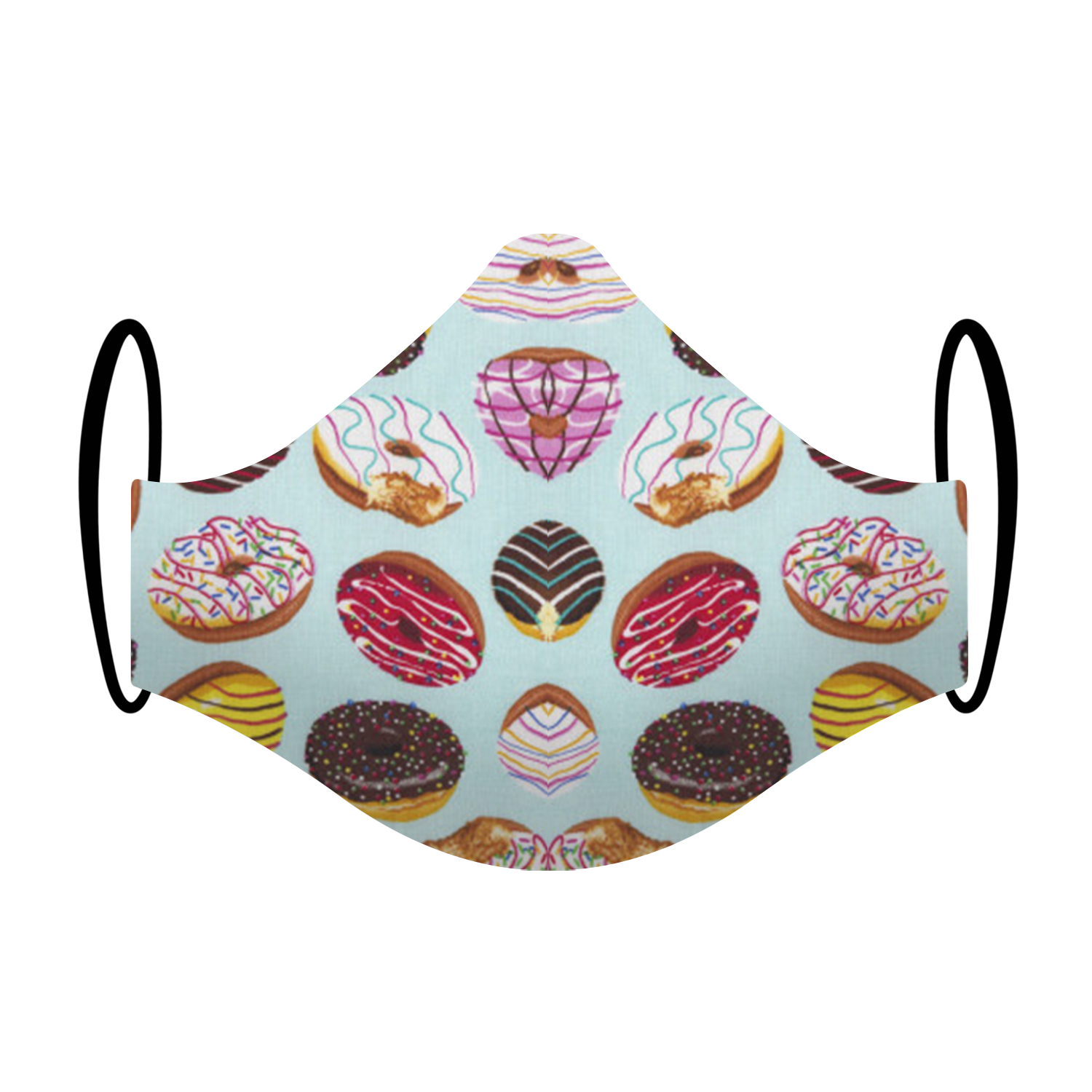 """DoughNut Come Over"" Doughnut Print Triple-layer Washable Face Mask"