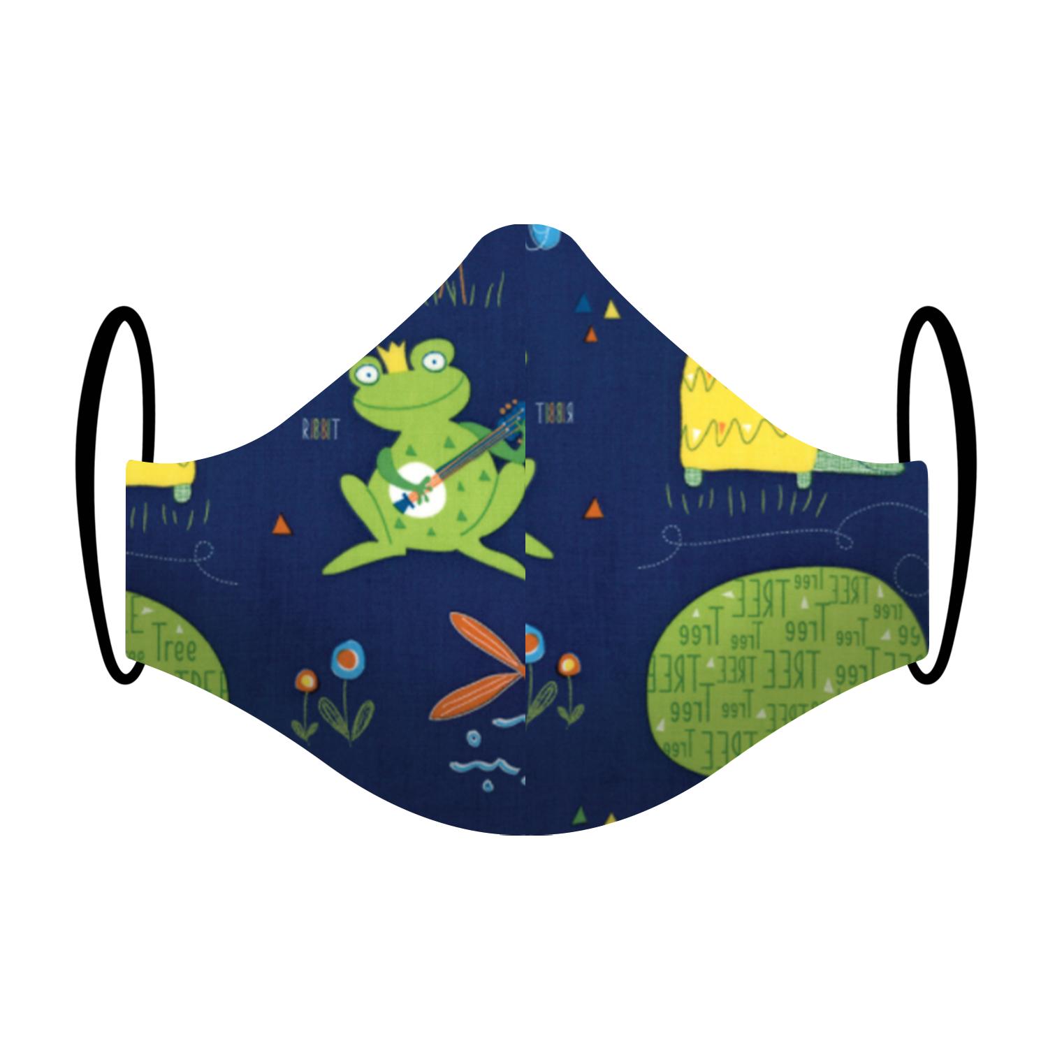 Kids mask with frog pond fish
