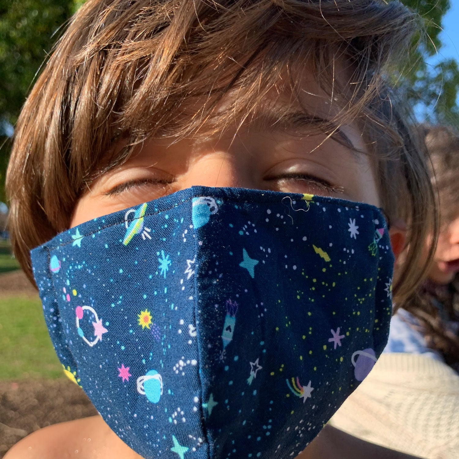 """Monster Mayhem"" Print Triple-layer Washable Kids Face Mask"