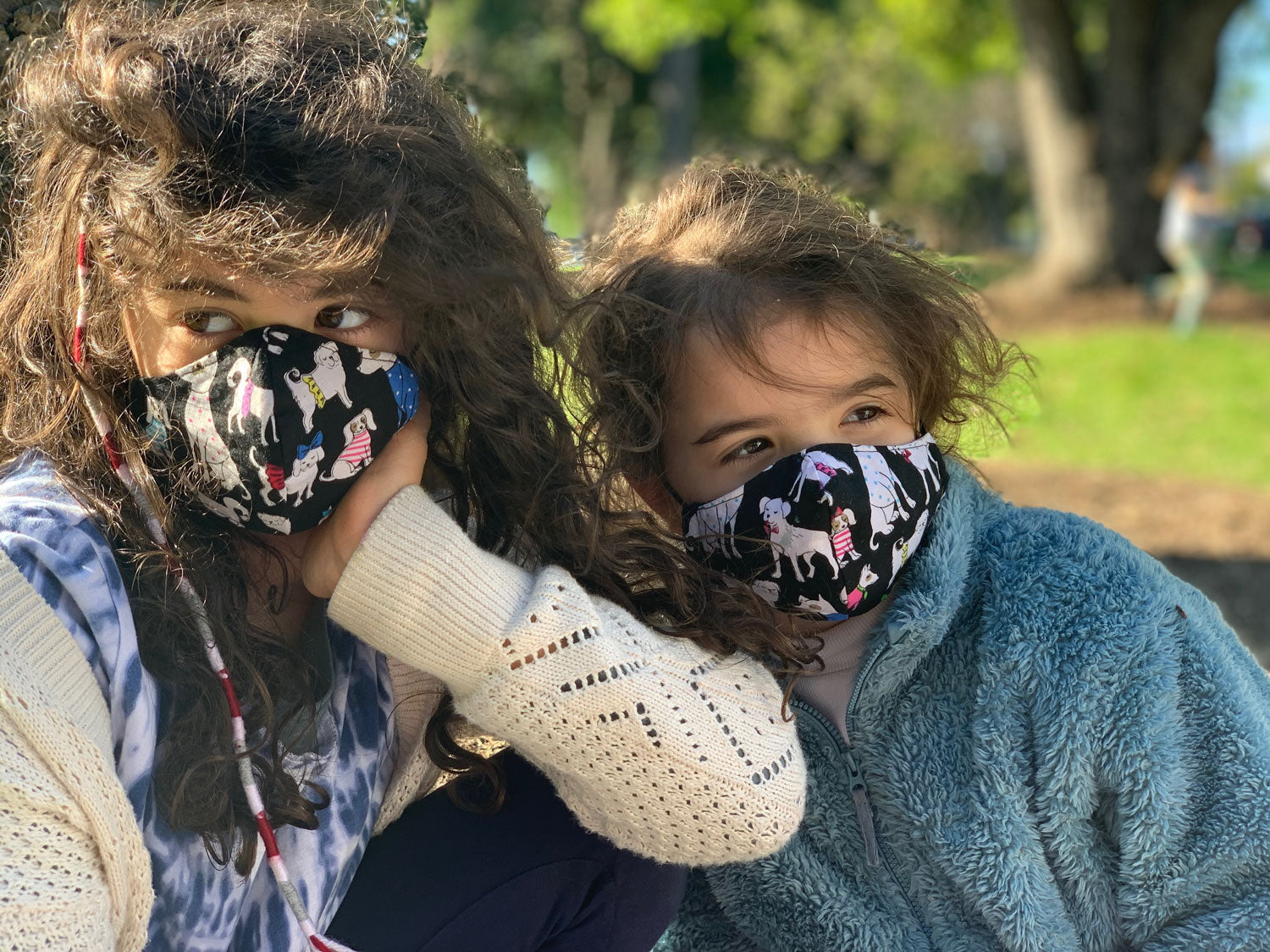 """Pond Life"" Print Triple-layer Washable Kids Face Mask"