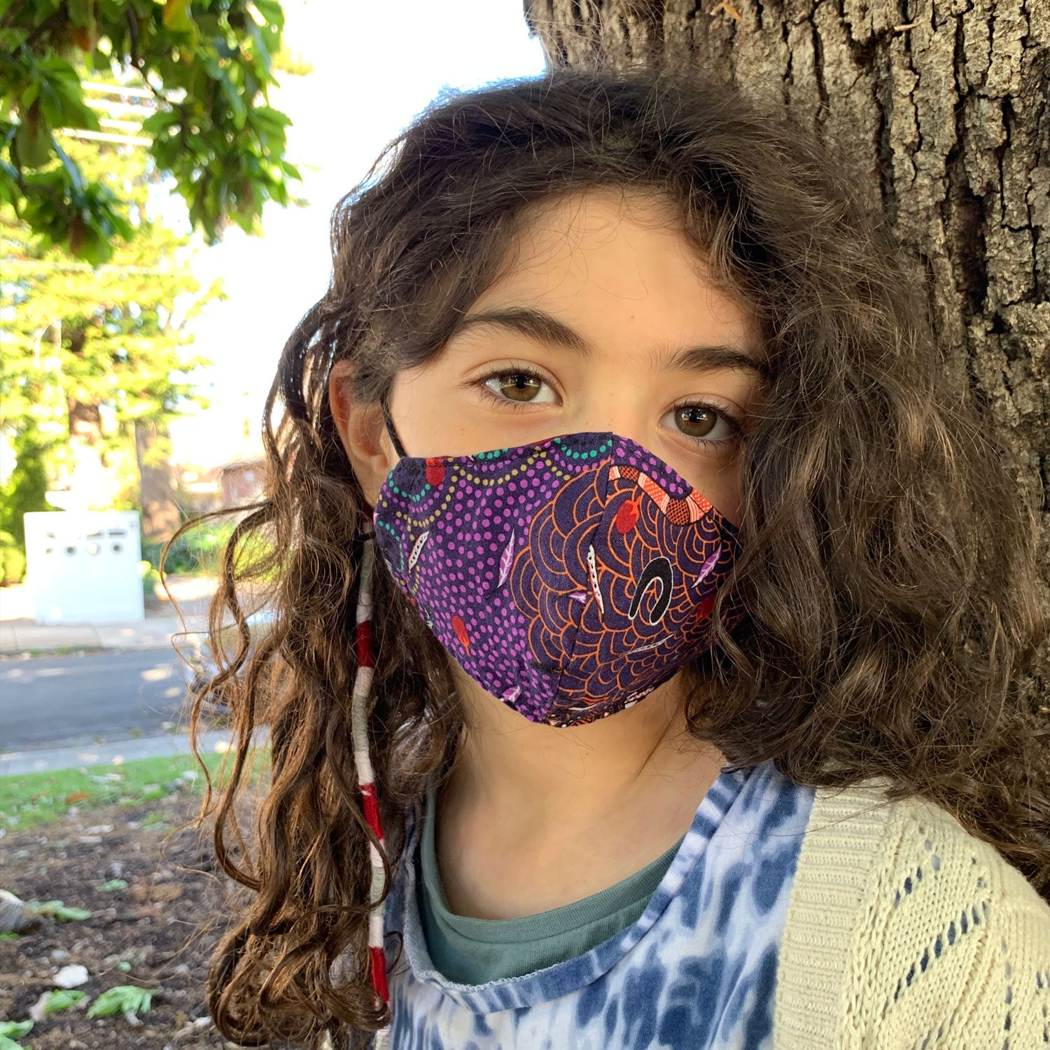"""POW"" Comic Print Triple-layer Washable Kids Face Mask"