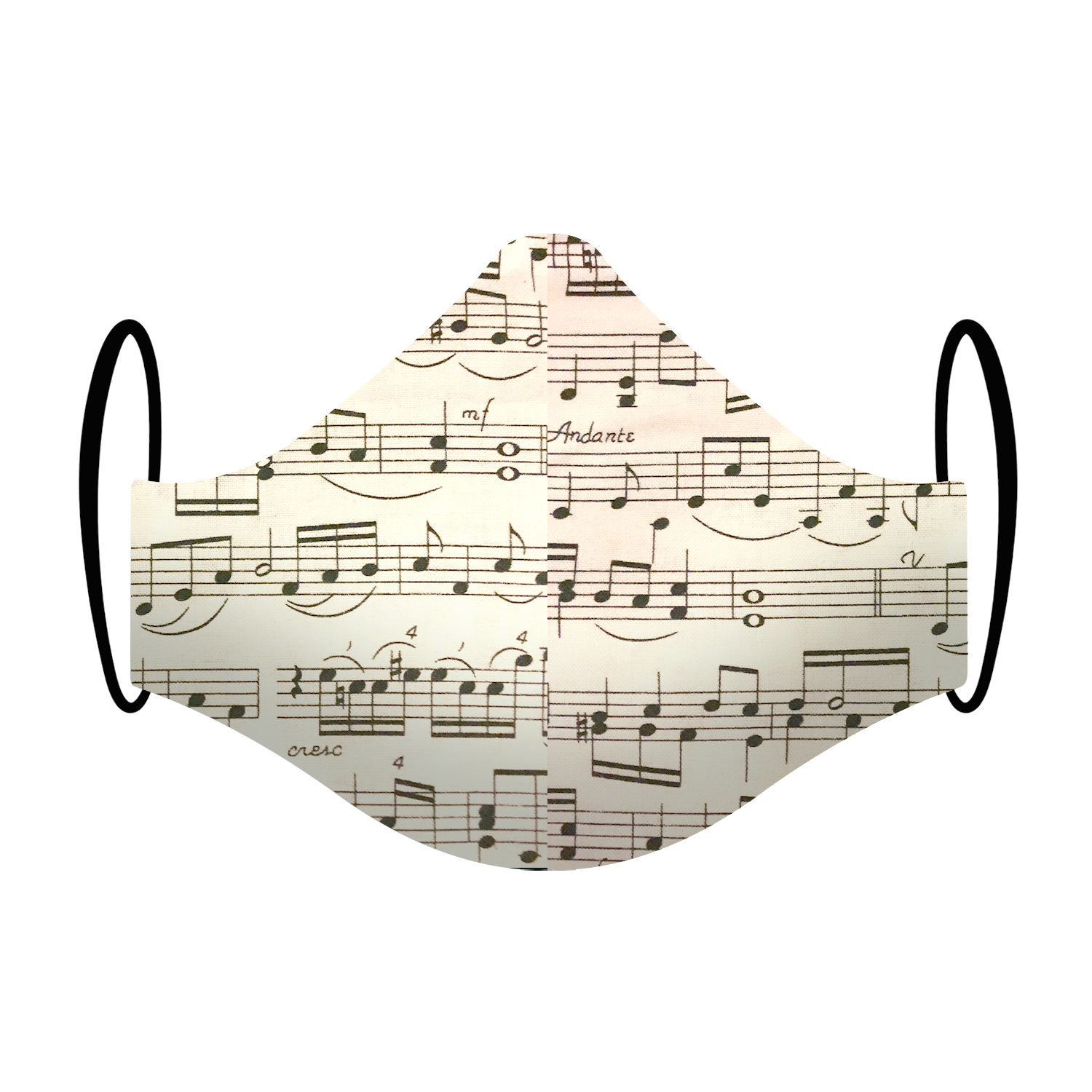 Musical Notes Print Triple-layer Washable Face Mask