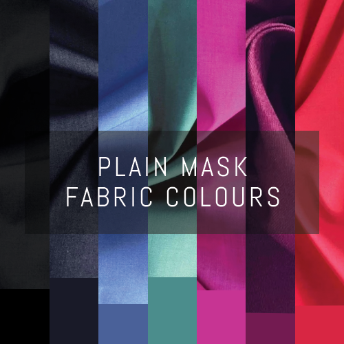 Plain Coloured Triple-layer Washable Face Mask