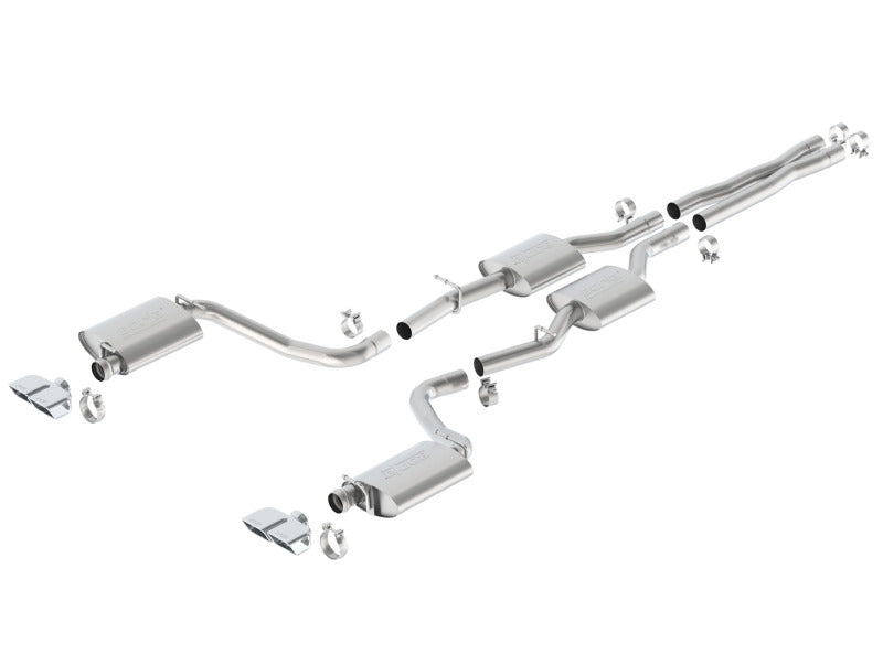 Borla 15-16 Dodge Challenger R/T 5.7L Dual Rectangle Angle Cut Dual Split Rear Exit S-Type Exhaust