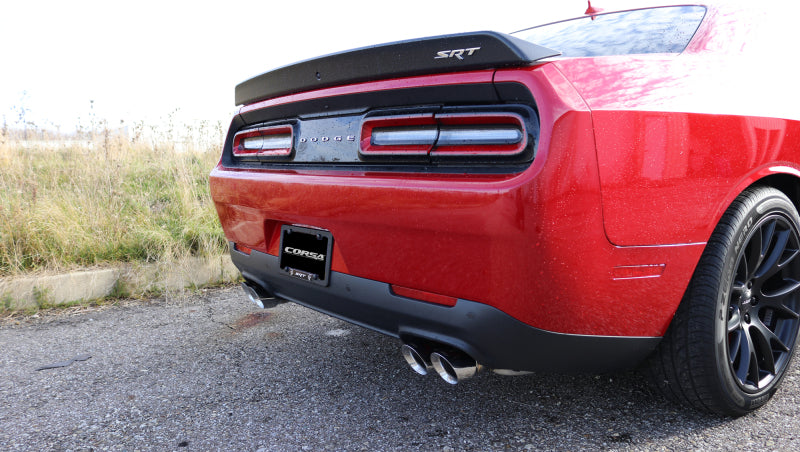 Corsa 15-17 Dodge Challenger Hellcat Dual Rear Exit Sport Exhaust w/ 3.5in Polished Tips