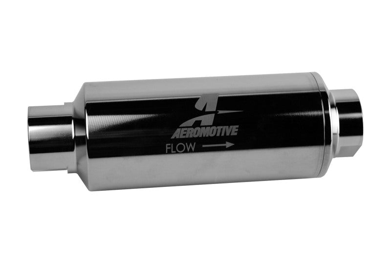 Aeromotive Pro-Series In-Line Filter - AN-12 - 40 Micron SS Element - Nickel Chrome Finish