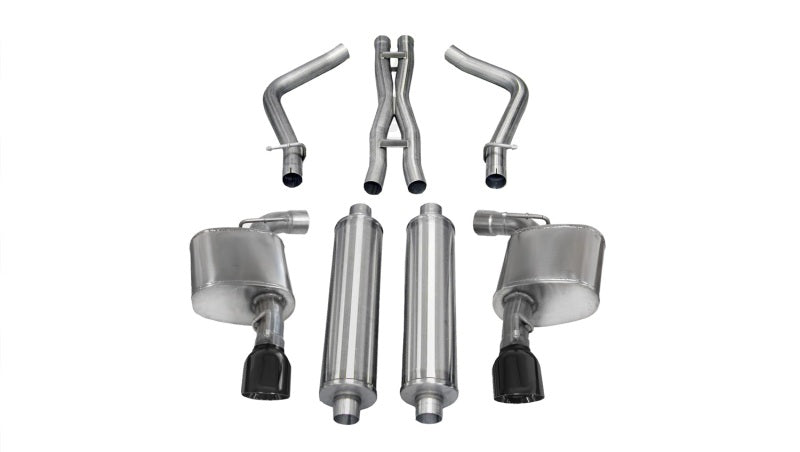Corsa 12-13 Dodge Charger SRT-8 6.4L V8 Black Sport Cat-Back Exhaust