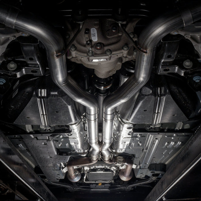 Stainless Works 18+ Ford Mustang GT Redline Cat-Back Performance Connect X-Pipe w/ Active Valves