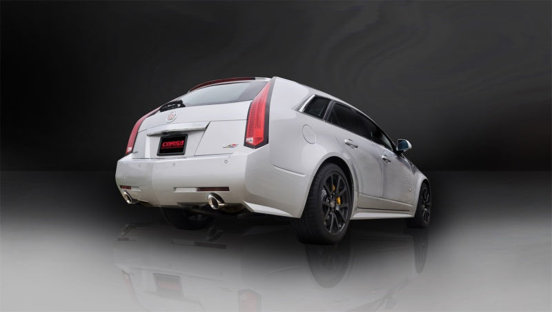 Corsa 11-13 Cadillac CTS Wagon V 6.2L V8 Polished Sport Axle-Back Exhaust