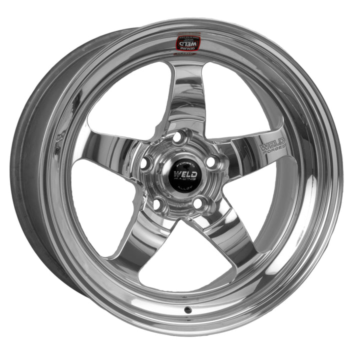 Weld S71 17x5 / 5x120mm BP / 3.3in. BS Polished Wheel (Medium Pad) - Non-Beadlock