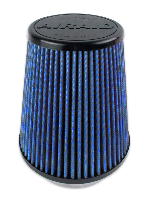 Airaid Universal Air Filter - Cone 4 x 7 x 4 5/8 x 7 w/ Short Flange - Blue SynthaMax