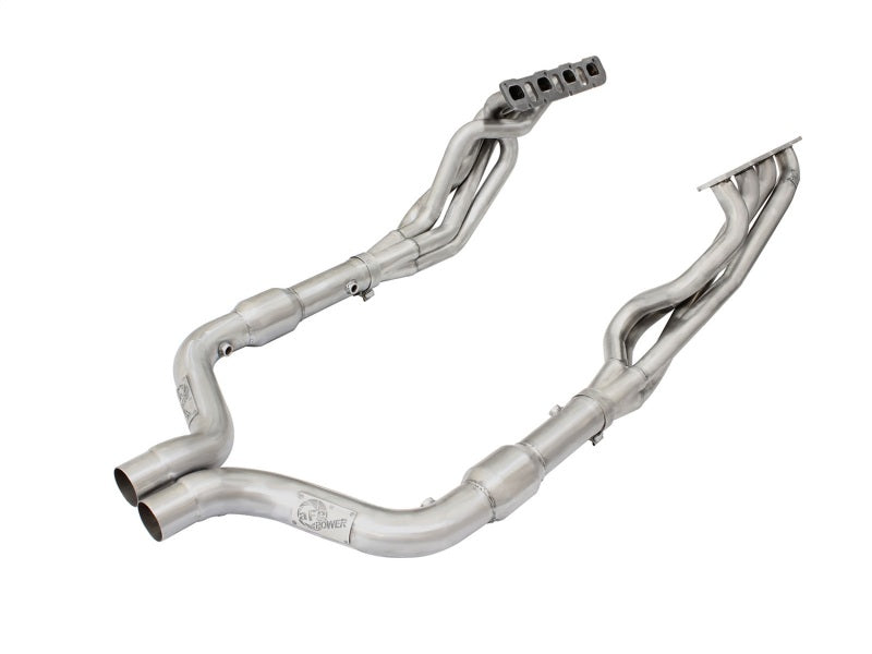 aFe Twisted Steel Long Tube Headers & Connection Pipes w/ Cats 11-14 Dodge Challenger SRT-8 V8-6.4L