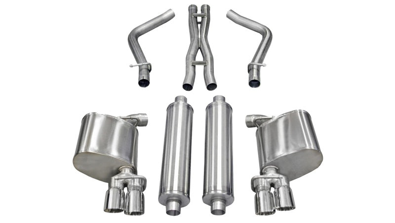 Corsa 11-13 Dodge Charger R/T 5.7L V8 Polished Xtreme Cat-Back Exhaust