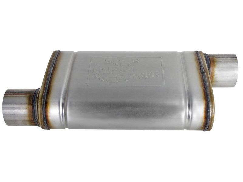 MACH Force-Xp 409 SS Muffler 3in ID Offset/Offset x 4in H x 9in W x 14in L - Oval Body
