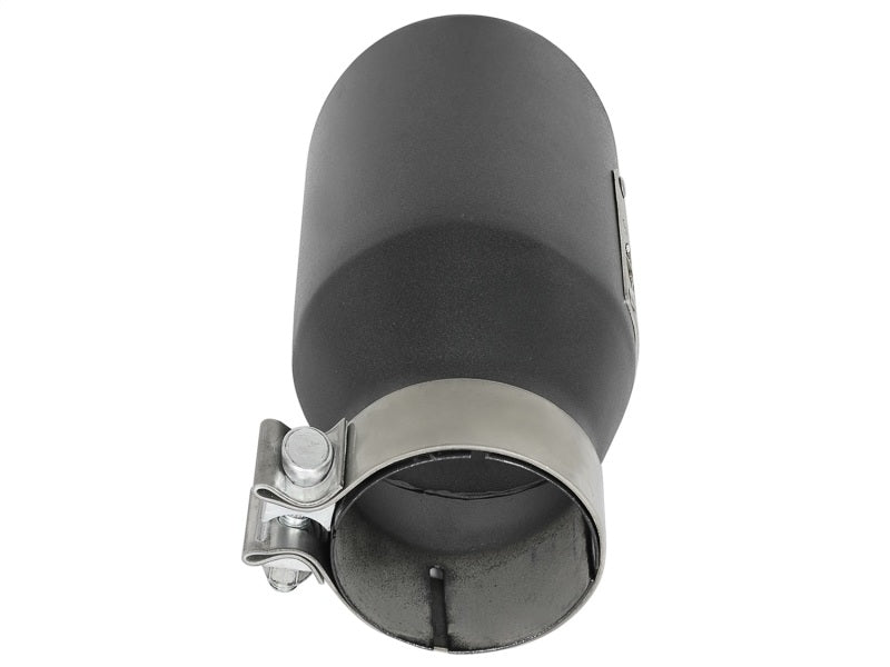 aFe MACH Force-Xp 3in 304 SS Metallic Black Exhaust Tip 3in In x 4-1/2in Out x 9in L Clamp-On Right