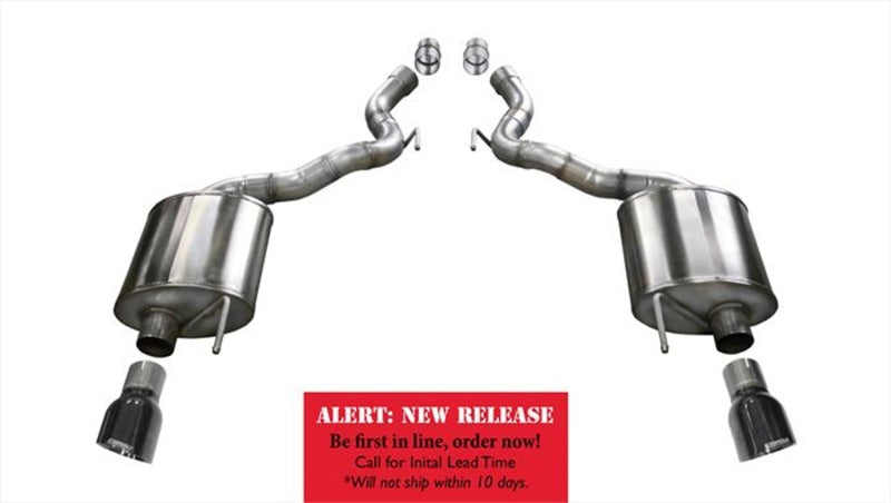 Corsa 15-16 Ford Mustang GT Convertible 5.0L V8 Touring Black Axle Back Exhaust