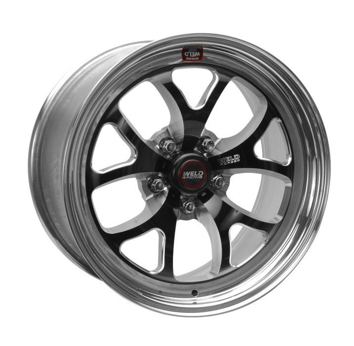 Weld S76 17x8 / 5x115mm BP / 5.2in. BS Black Wheel (High Pad) - Non-Beadlock