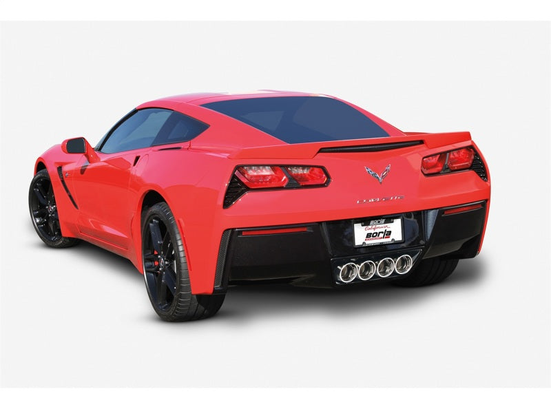 Borla 2014 Chevy Corvette C7 w/o AFM w/o NPP Atak Rear Section Exhaust Quad Rd RL IC Tips