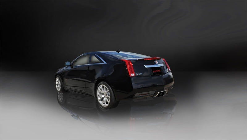 Corsa 11-13 Cadillac CTS Coupe V 6.2L V8 Black Sport Axle-Back Exhaust