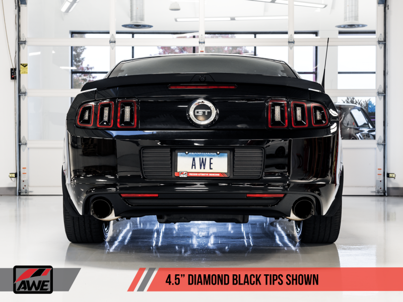 AWE Tuning S197 Mustang GT Axle-back Exhaust - Touring Edition (Diamond Black Tips)