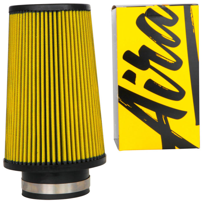 Airaid Universal Air Filter - Cone 3-1/2 FLG x 6in B x 4-5/8in T x 9 H