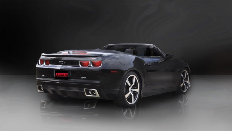 Corsa 11-13 Chevrolet Camaro Convertible SS 6.2L V8 Auto Polished Sport Cat-Back + XO Exhaust