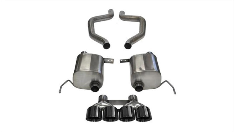Corsa 2015 Chevy Corvette Z06 3in Axle Back Exhaust, Black Quad 4.5in Tip (Xtreme)