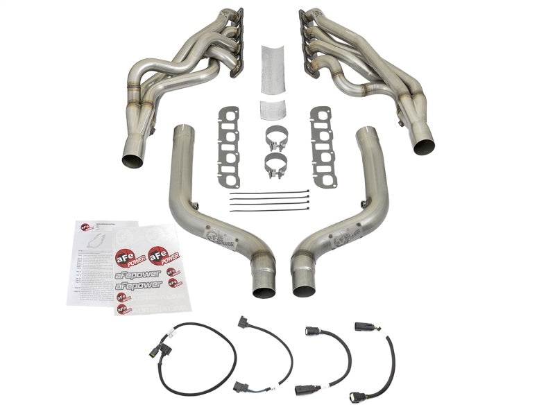 aFe 2in Twisted Steel Long Tube Header w/ Connection Pipe Race Series 15-17 Challenger / Charger SRT