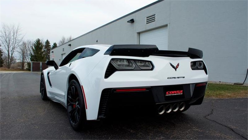 Corsa 15+ Chevy Corvette Z06 (Grand Sport M/T Only) 3in Axle Back Xtreme Exhaust Pol Quad 4.5in Tip