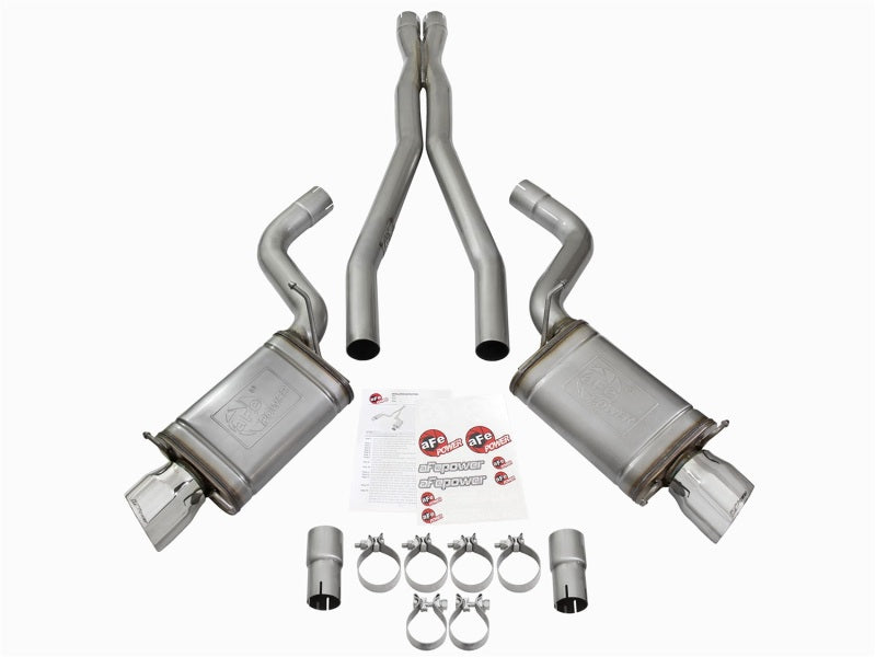 aFe Mach Force-Xp 3in CB Stainless Steel Dual Exhaust System w/Polished Tips 09-15 Cadillac CTS-V